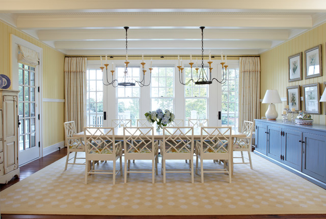 Michigan Summer Home Beach Style Dining Room