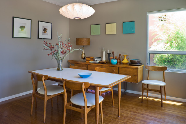 Mid century dining for Mid century modern dining rooms