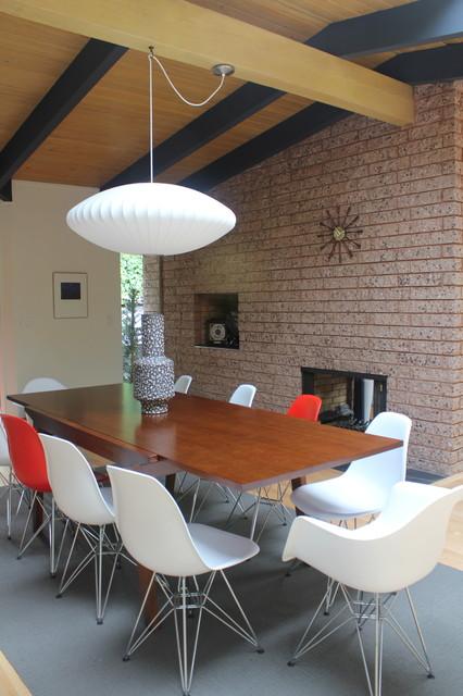 Mid Century Modern Dining Room Lighting mid-century mix - modern - dining room - san francisco -visual