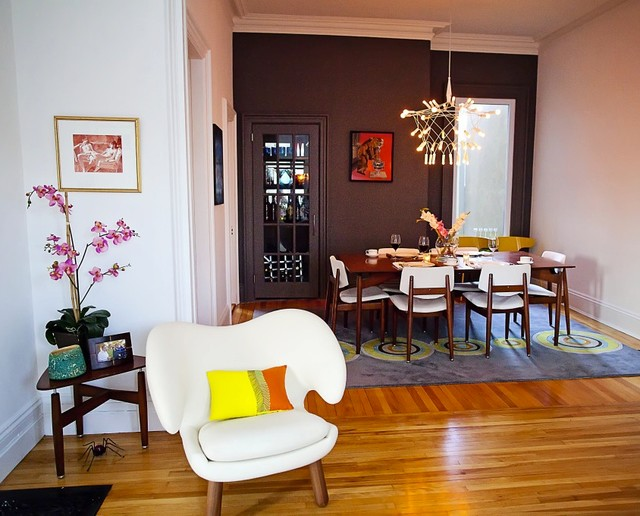 mid century meets historic midcentury dining room