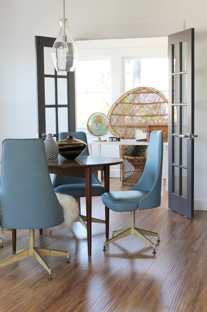 Mid Century Modern Chairs And Pea Chair In Office Dining Room