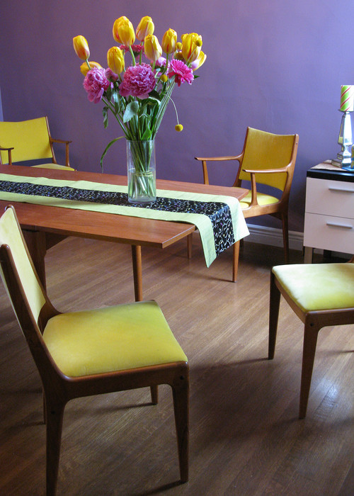 Mid-century modern dining room by Kimball Starr Interior Design