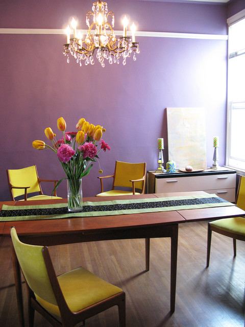 Mid century modern dining room by kimball starr interior for Mid century modern dining rooms