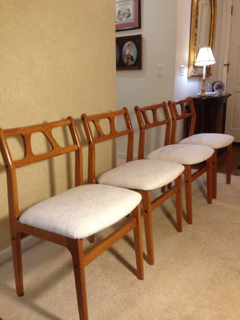 mid century modern dining room chairs reupholstered
