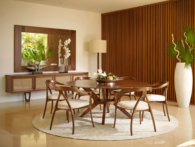 Mid-century Modern Dining Room - Midcentury - Dining Room - Miami - by Saccaro USA