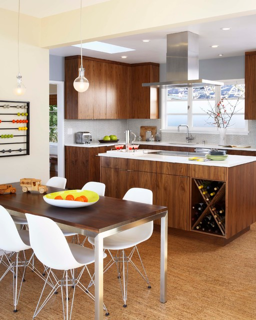 Mid Century Modern Kitchen Midcentury Kitchen San Francisco By Sogno Design Group