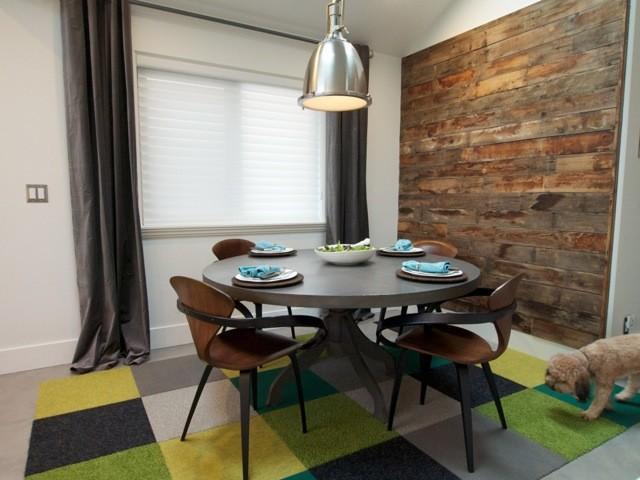 Mid Century Modern Meets Industrial Salvage Industrial Dining Room