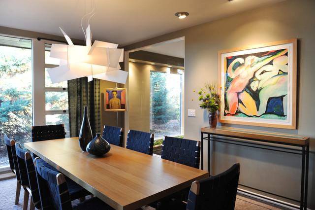 Dining room - midcentury modern dining room idea in Minneapolis