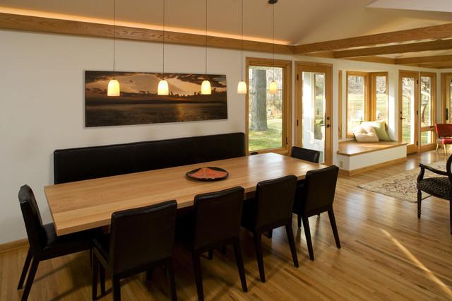 Mid Century Modern Sunroom Modern Dining Room