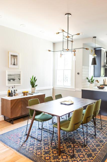 Mid-Century Row-home - Midcentury - Dining Room - DC Metro ...