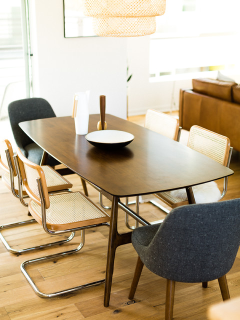 Midcentury Dining Table With Cesca Chairs Midcentury Dining Room