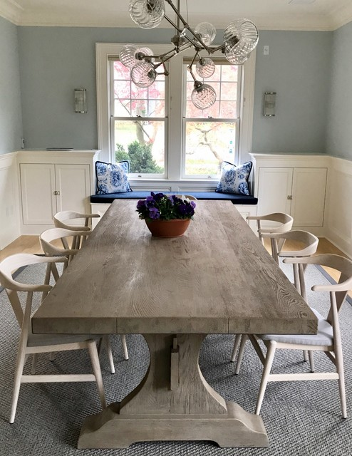 Inspiration for a transitional dining room remodel in New York