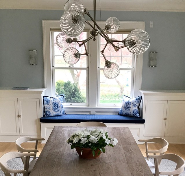 Transitional dining room photo in New York