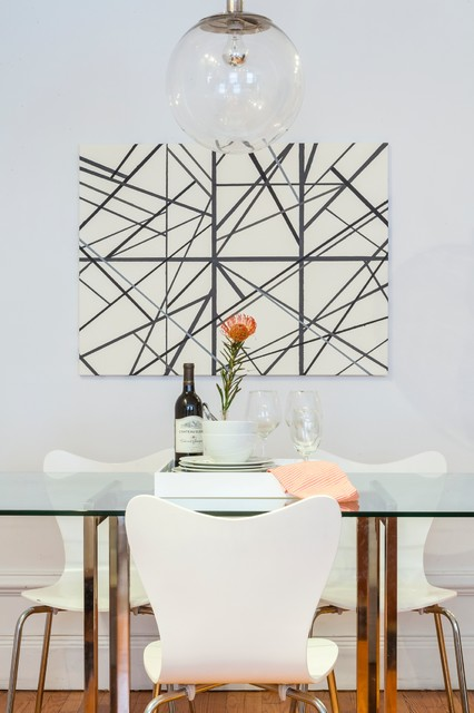 Midtown nyc apartment contemporain salle manger for Salle a manger new york