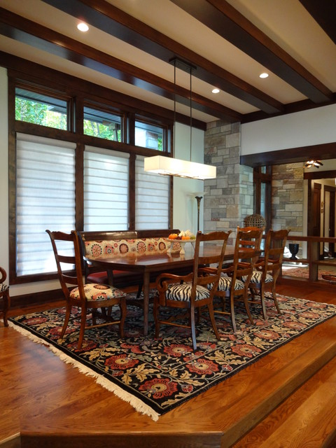 Midwest Lake Home Lighting Design transitional-dining-room