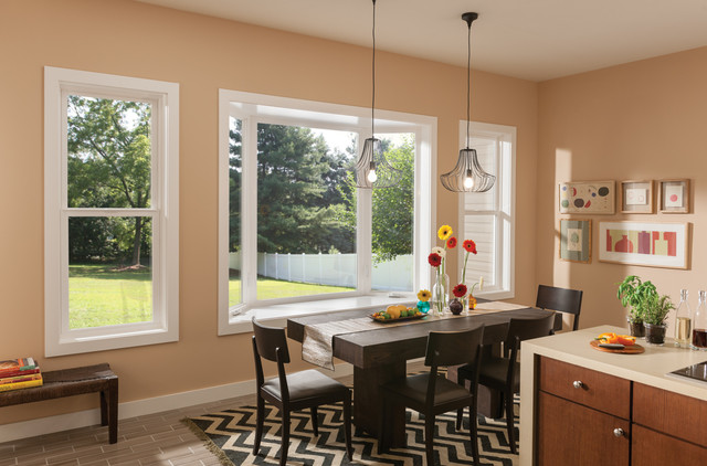 Milgard Tuscany® Windows in Kitchen traditional-dining-room