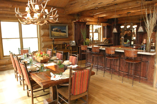 Mill Canyon Lodge - Tour of Homes - Rustic - Dining Room ...