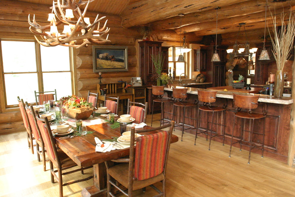 Homes Rustic Dining Room Tampa, Lodge Style Dining Room Furniture