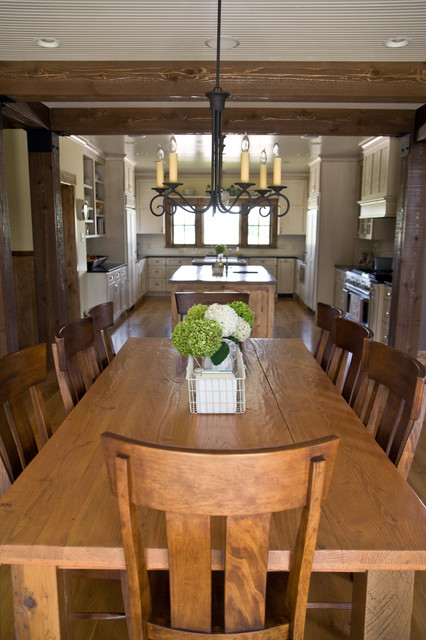 Mill Creek Ridge Farmhouse traditional dining room