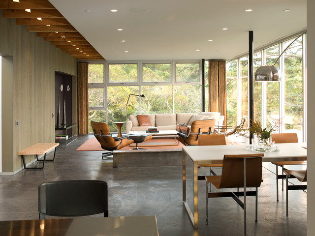 Mill Valley Golf Course Overlook modern-dining-room