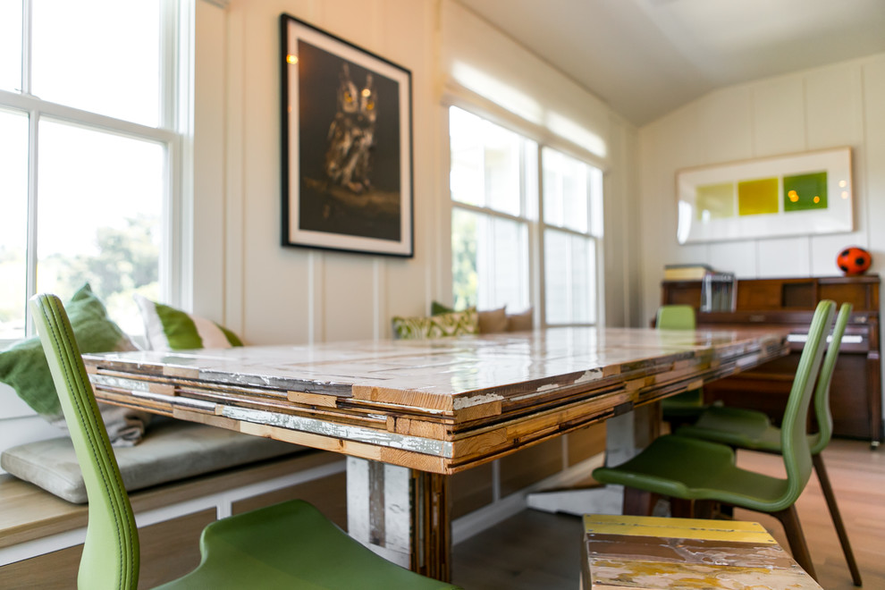 Inspiration for a modern dining room remodel in San Francisco