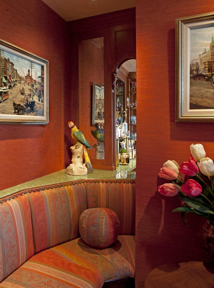 Dining room - mediterranean dining room idea in Milwaukee