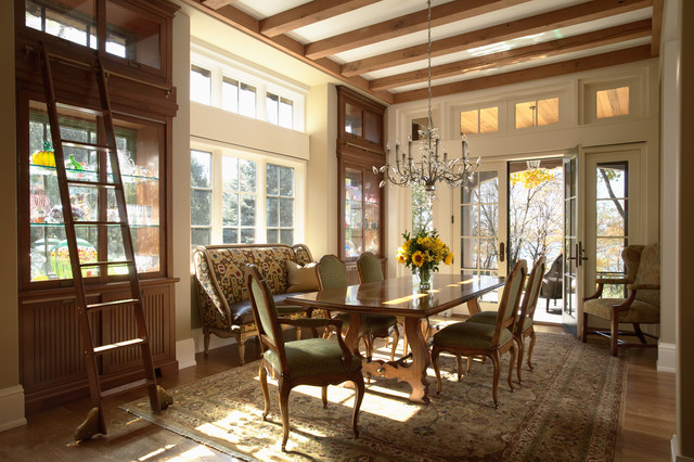 Minneapolis Tudor Residence traditional dining room