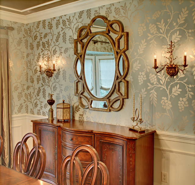 Mirror Close Up Traditional Dining Room New York