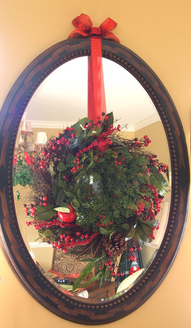 Mirrors & Wreaths traditional-dining-room