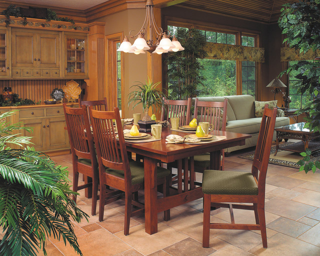 Mission style cherry dining furniture craftsman dining room cleveland by schrocks of - Mission style dining room furniture ...