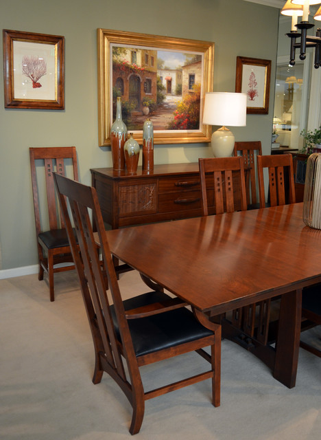 mission style dining craftsman dining room san francisco by