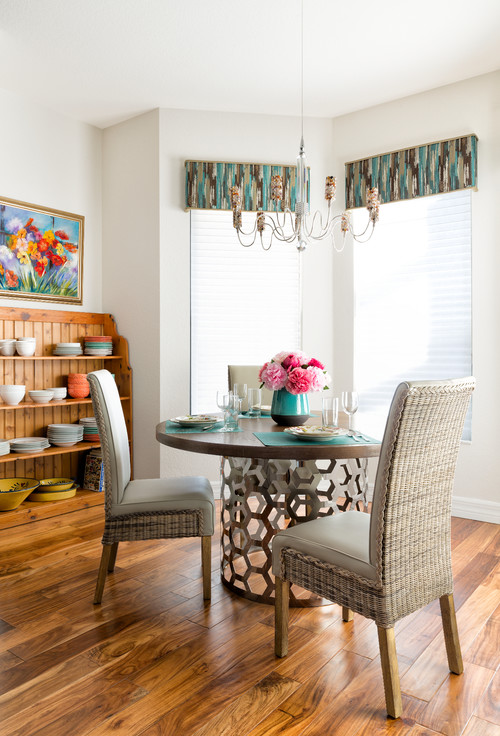 Transitional Dining Room by Naples Interior Designers & Decorators Decorating Den Interiors, Naples