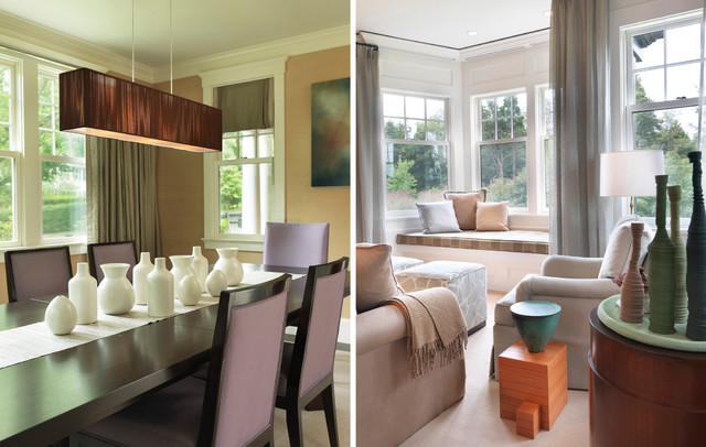 Mixed Selection contemporary-dining-room