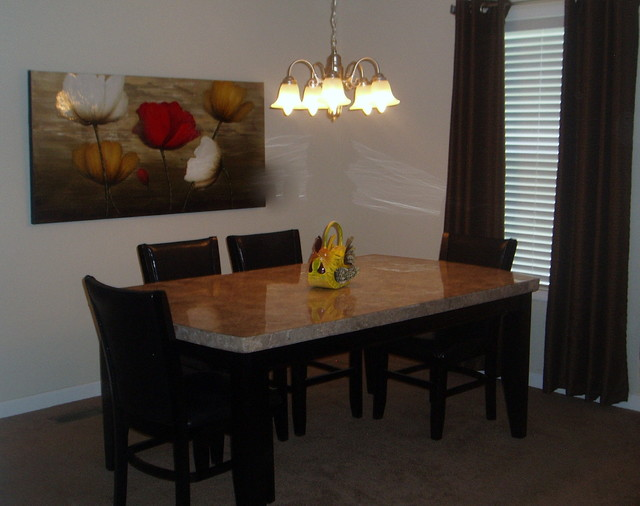 Mobile home gets an eclectic update eclectic dining for Dining room update ideas