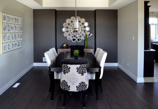 Model home design transitional dining room other for Dining room design questions