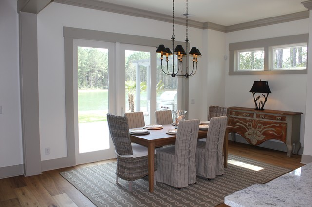 model home dining room beach style dining room other