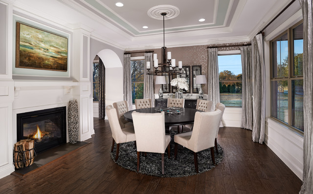 Model home interiors transitional dining room orlando by intermark design group - Simple and model home interiors ...