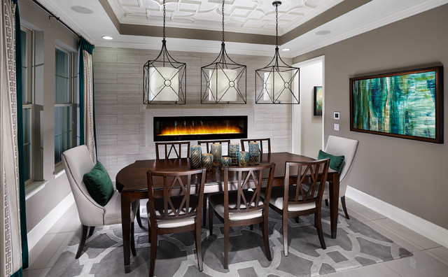 Model home interiors contemporary dining room for Model home dining room