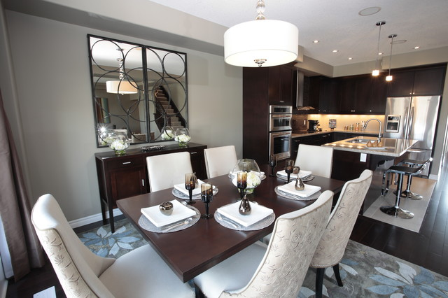Model Home Dining Rooms model home kitchen and dining room - modern - dining room