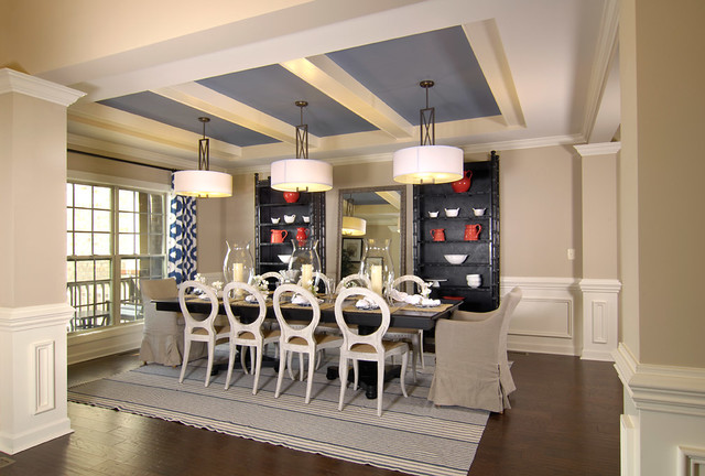 Model home transitional dining room charlotte by for Model home dining room