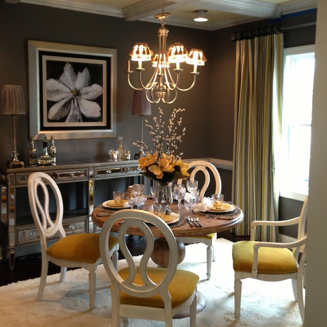 Model homes traditional dining room other metro by for Model home dining room