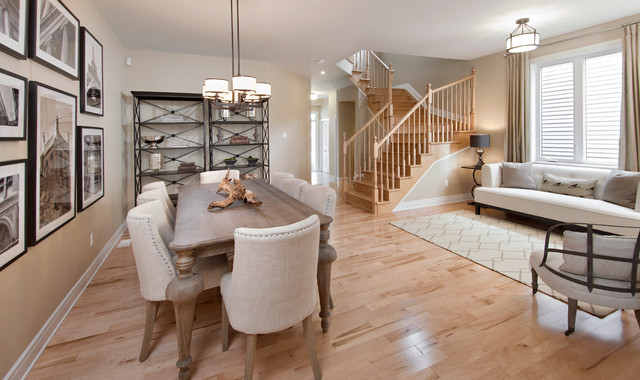 Model homes transitional dining room ottawa by for Model home dining room