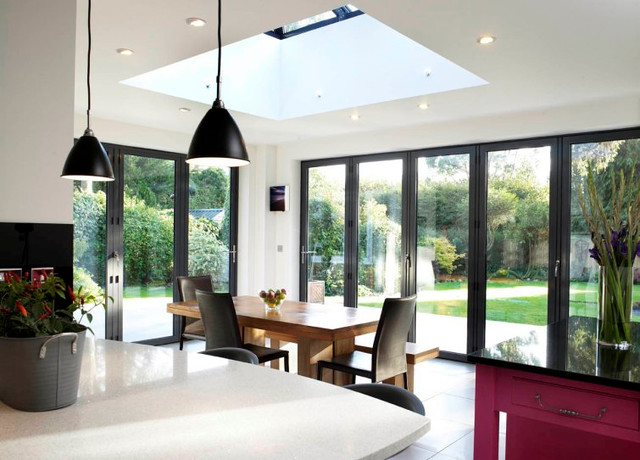 Modern and Contemporary Bespoke Glass Extensions  : modern dining room from www.houzz.com size 640 x 460 jpeg 88kB