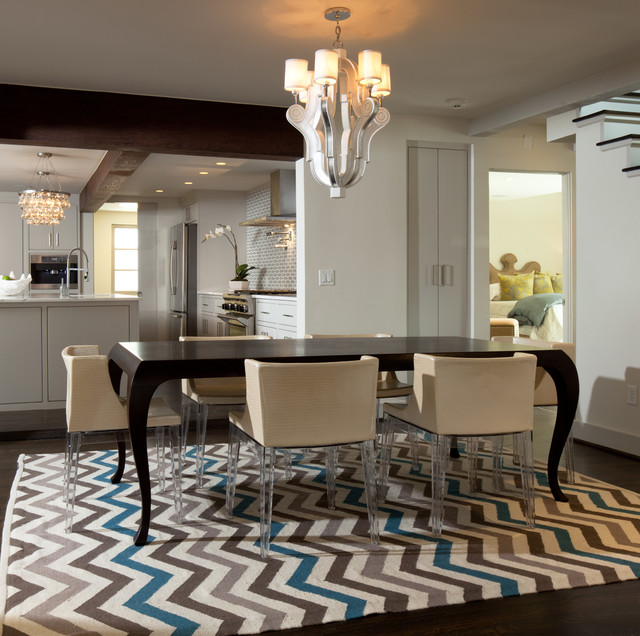 Dining Room Rug Design Contemporary Dining Room Oklahoma City By Jennifer Welch Designs