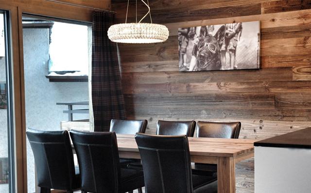 Modern Chalet Style Zermatt Rustikal Esszimmer