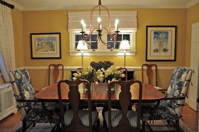 Modern Colonial Traditional Dining Room