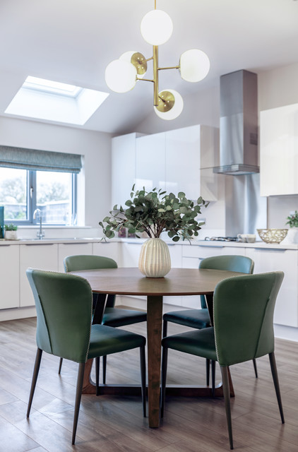 Example of a trendy dining room design in Dublin