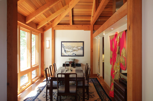 Modern Contemporary Post And Beam Home Contemporary Dining Room Burlington By Timberpeg