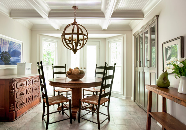 Modern country kitchen traditional dining room for Dining room design questions