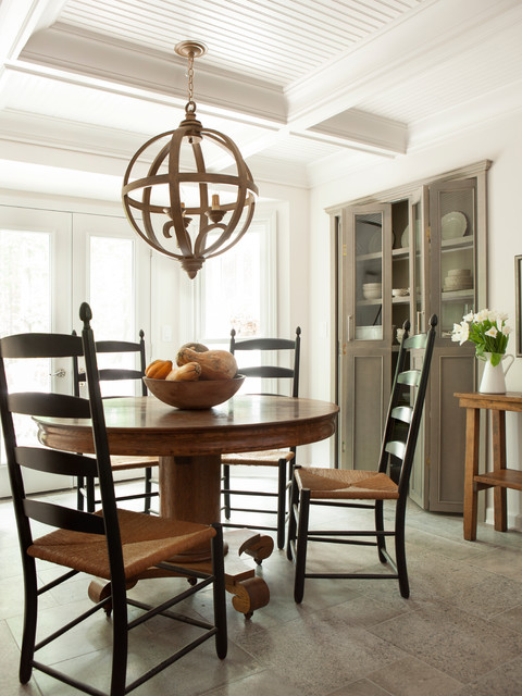 Modern country kitchen traditional dining room for Country kitchen dining room ideas